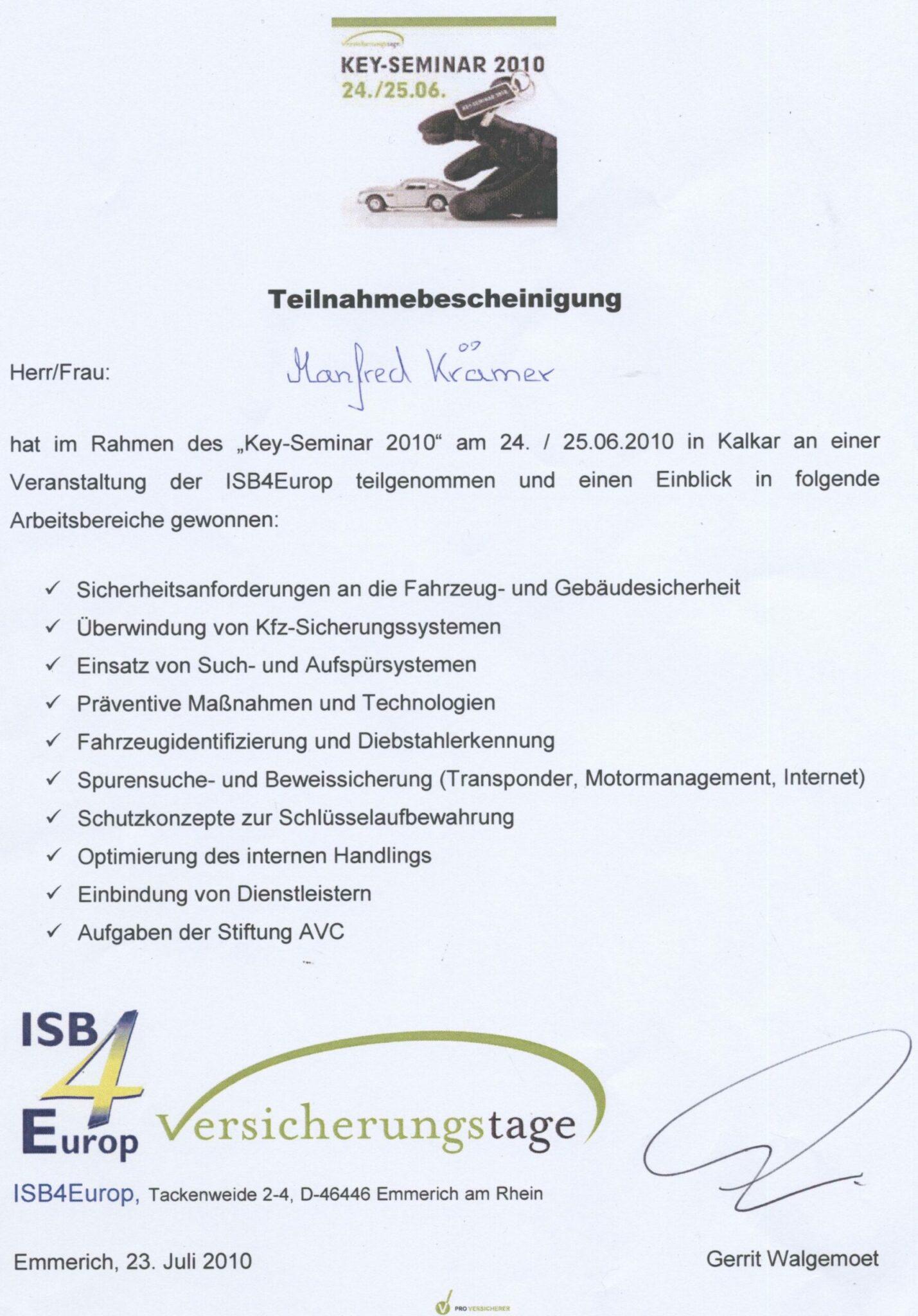 ISB4Europ 2010