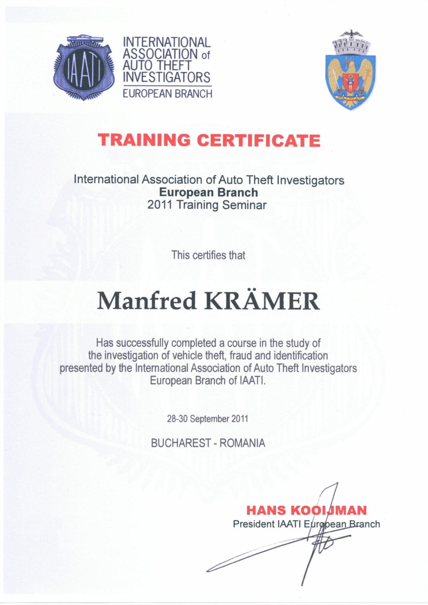 Iaati Certifikat 2011