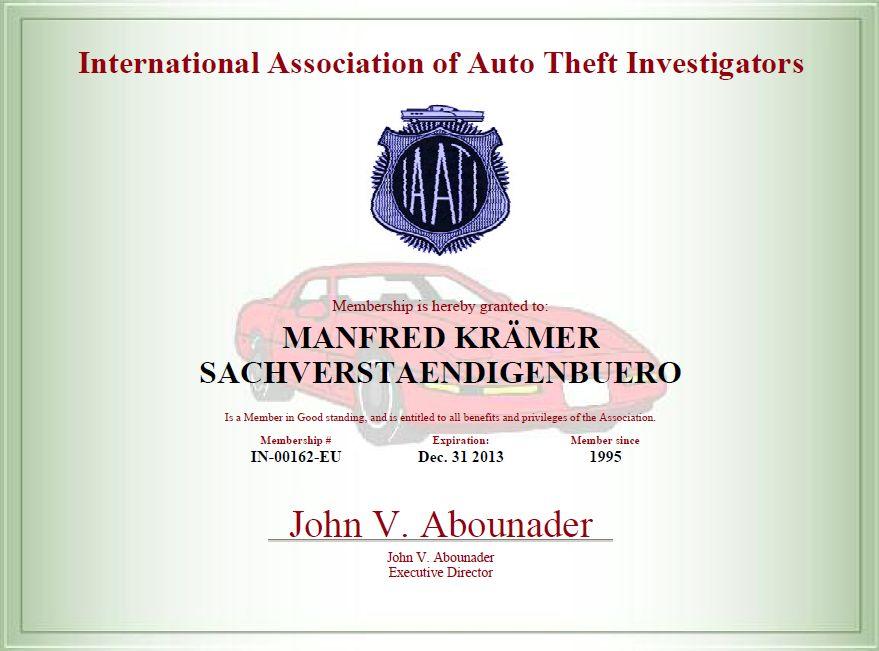 Iaati Certifikat 2013