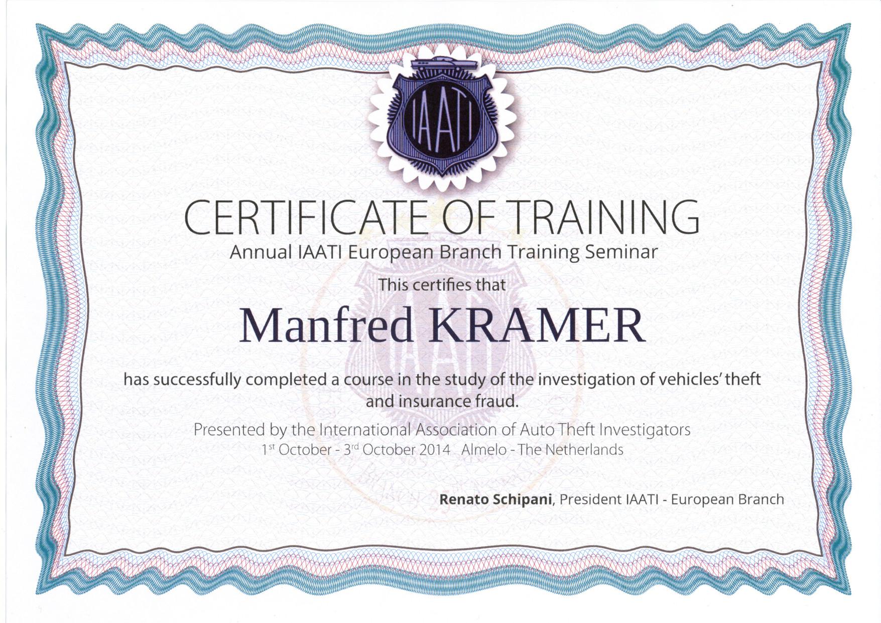 Iaati Certifikat 2014