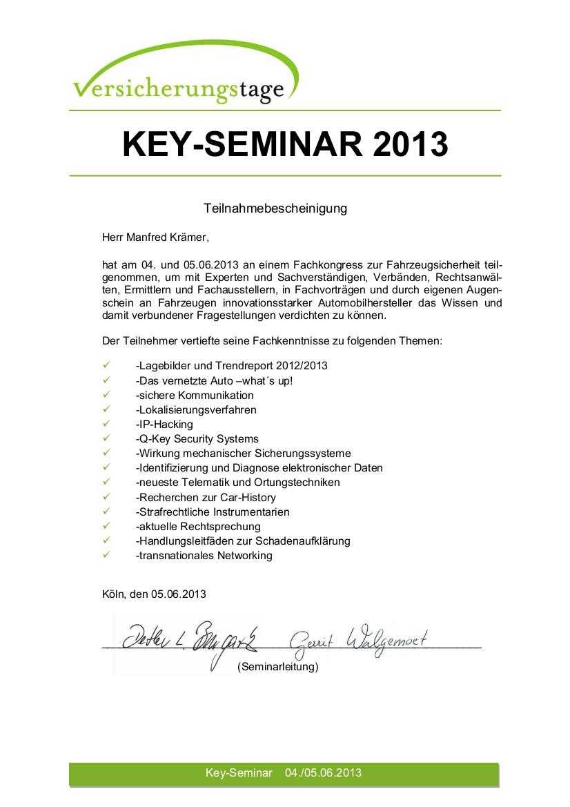 Key-Seminar 2013