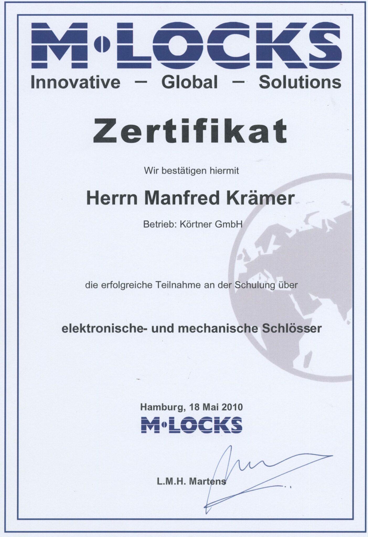 M-Locks Seminar 2010